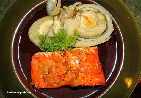 Cedar planked salmon & fennel
