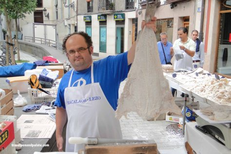 Salt Cod for sale in the Basque market town of Ordizia