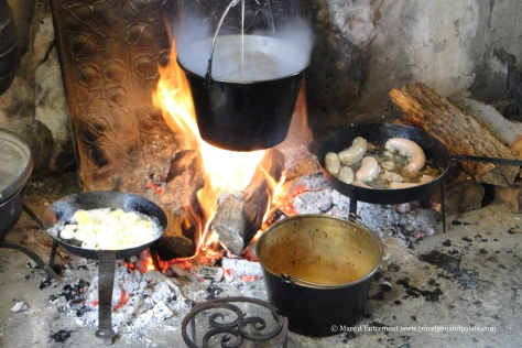 17th/18th century meal being cooked at the Thomas Massey House (1693)