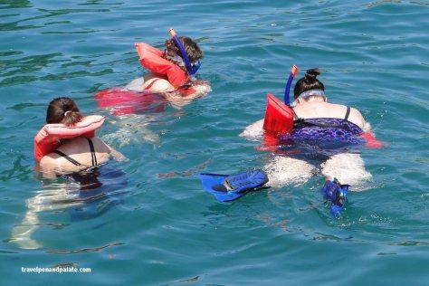 snorkling at Los Arcos Marine Park off the Acalli