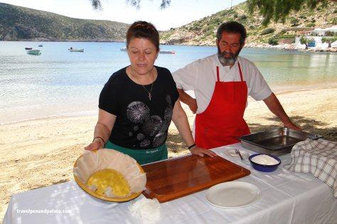 Flora and Nikos Kratzeskaros have operated Tsikali Taverna
