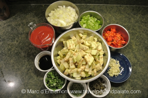Ingredients for caponata