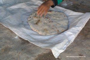 baked Bedouin flat bread