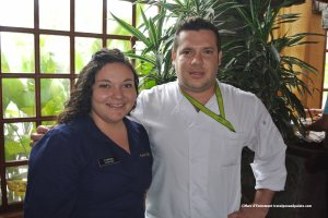 (left)Vanessa Gonzalez & (right)Executive Chef Diego Seitour