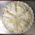 Spanakopita ready for baking