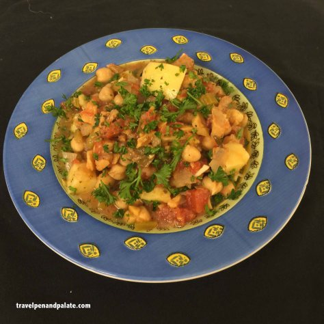 My Spanish inspired salt cod stew