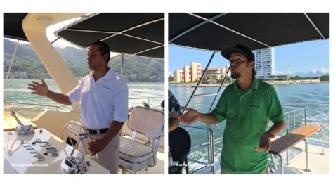 Capitan Jose & first mate/tour guide Hassam