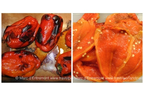 Roasted, peeled & seeded peppers