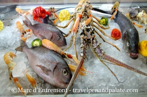 Fresh fish/seafood at Alexandros Palace