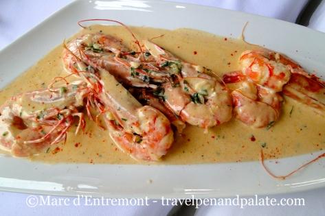Chef Giorgos Kosmidis Halkidiki shrimp