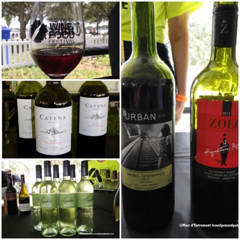 Wine selections at the Grand Tasting from the 2015 festival