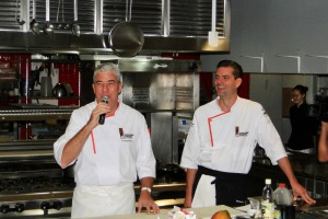 (left) Chef Thierry Blouet, (right) Chef Christian Krebs